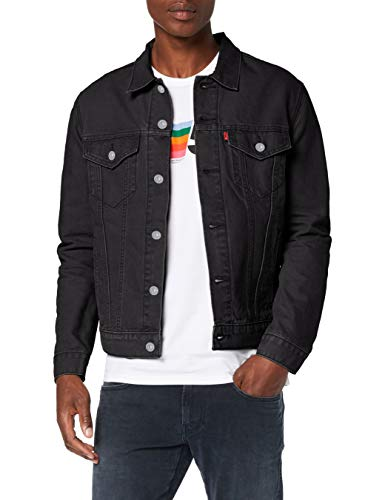 Levi's The Trucker Jacket, Giacca in Jeans Uomo, Nero (Berk Trucker 0306), Medium