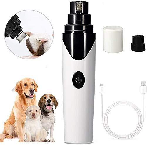 Nagelslijper Voor Honden, Elektrische Nagelknipper Voor Huisdieren, Automatische Nagelpolijstmachine Ultrastille Draadloze USB-Oplaadbare Manicure-Apparaat Klauwverzorging Voor Kleine