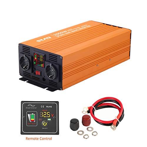Sug 2000W DC 12V auf AC 220V 230V Wechselrichter Reiner Sinus Spitzenwert 4000W Spannungswandler Power Inverter Pure Sine Wave mit Fernbedienung