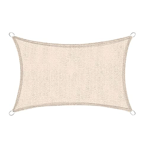 qwertyuio Sunscreen Awning Outdoor Sunshade Net Beige 95% Anti-Uv Garden Sunblock Shade Cloth Car Cover Greenhouse Succulent Plant Shading Beige3X2M