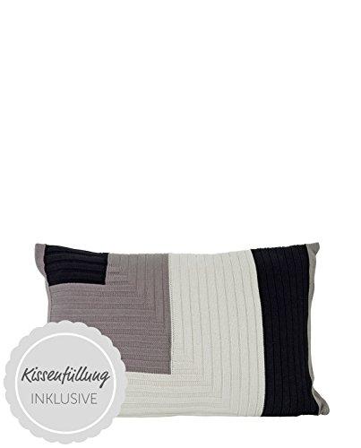 Ferm Living Kissen Angle Knit Grau 40x60cm