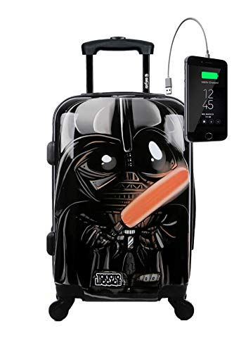 TOKYOTO – Valigia Rigida Black Empire, 55x40x20cm, Con Caricatore USB | Trolley Giovanile Per Ragazzi, 4 Ruote 360º | Bagaglio a Mano Ryanair, Easyjet, Vueling