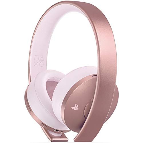 PlayStation Casque-micro sans fil PS4, Audio 3D, Édition Gold, Or rose
