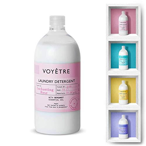 Voyetre Detergente Líquido concentrado para lavadora – Natural, vegano, fórmula biodegradable [1L – 28 lavados] (Enchanting Rose)