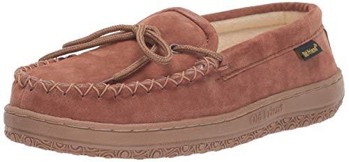 Old Friend Women's Cloth Moccasin Slipper, Chestnut II, 6
