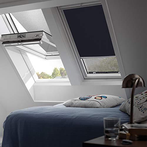 VELUX Original Verdunkelungrollo Dachfenster, S08, Uni Dunkelblau
