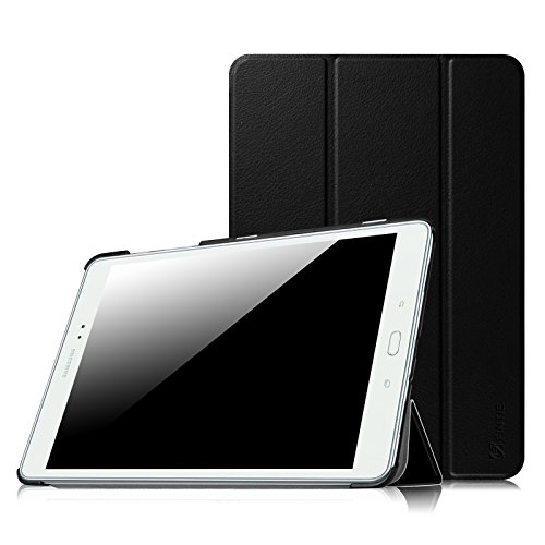 Fintie Hülle für Samsung Galaxy Tab A 9.7 ZollT550N / T555N Tablet-PC - Ultra Schlank Superleicht Ständer SlimShell Cover Schutzhülle Etui mit Auto Schlaf/Wach Funktion, Schwarz