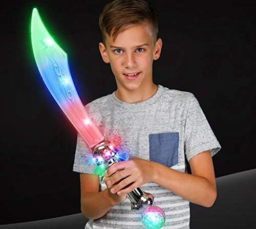 Light Up Flashing Pirate Sword with Skull and Crystal Ball - Tons of Fun for That Next Big Party! Orders of 2 or More get F R E E - E X T R A S ! ! !
