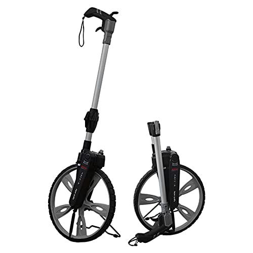 LUWEI 12-inch Rolling Distance Measuring Wheel, Japanese Industrial Foldable Meters Measure Wheel[Up to 9,999m],Digital Display, Handbrake, Double Zeroing, Waterproof Backpack