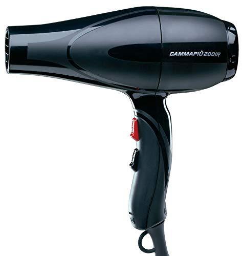 Gamma Piu 2001R - Secador de pelo, color negro