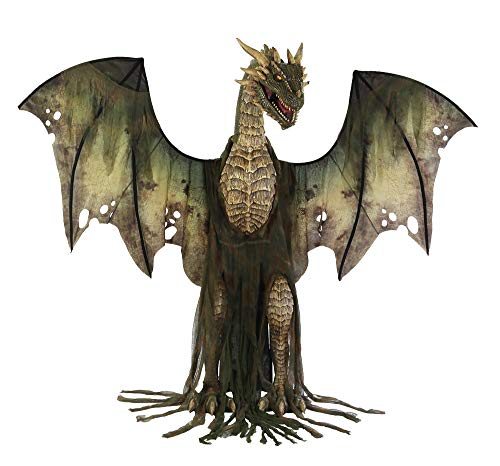Winter Forest Animated Dragon Prop