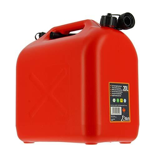 Cartec 506022 Tanica Omologata Carburanti, Rosso, 20 Litri