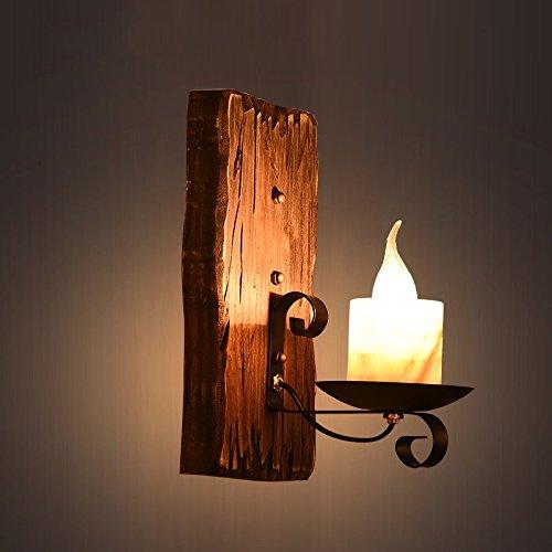 ZWL Lampe à bougies, rétro Lampe murale LOFT, Bar Light Couture Lampe murale Lampe de corridor Magasin de café Lampe de décoration murale Lampe d'ingénierie Lampe murale d'élément de réseau Creative Nostalgic E27 Lampes de décoration mode ( taille : 36*15CM )