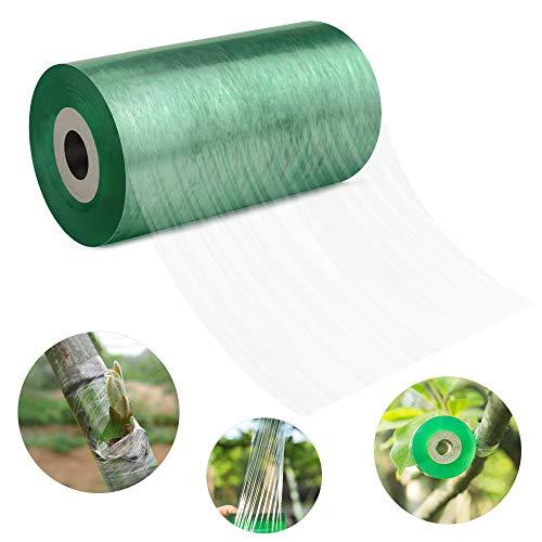 Venga amigos Pfropfband,transparent Veredelungsband Dehnbare Band Floristik Moisture Barrier Repair Pflanze(10cm*200m)