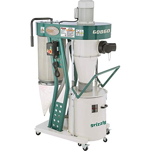 in budget affordable Grizzly Industrial G0860-1-1 / 2 HP Portable Cyclone Dust Collector