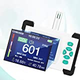 KKTECT Detector de Dióxido de Carbono Monitor de CO2 de Temperatura de Humedad Portátil Medidor de CO2 con Estuche de Almacenamiento para el Hogar, Oficina, Laboratorio, Dormitorio