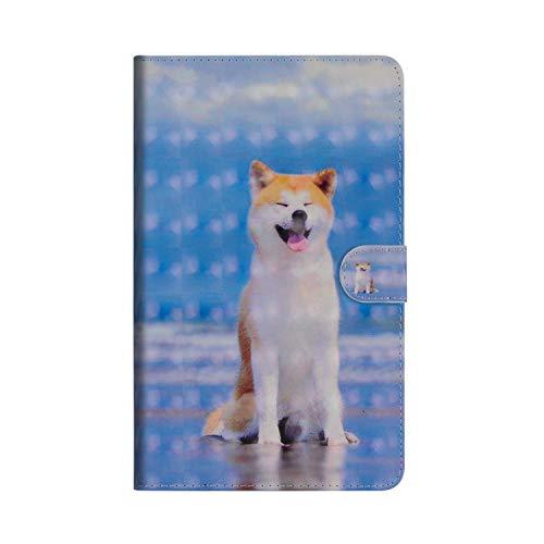 Huawei Mediapad M5 8.4 Zoll Hülle,JAWSEU Huawei Mediapad M5 8.4 Zoll Lederhülle - Smart Cover Tablet Hülle H& 3D Muster PU Leder Flip Hülle Wallet Tasche Schutzhülle mit Ständer