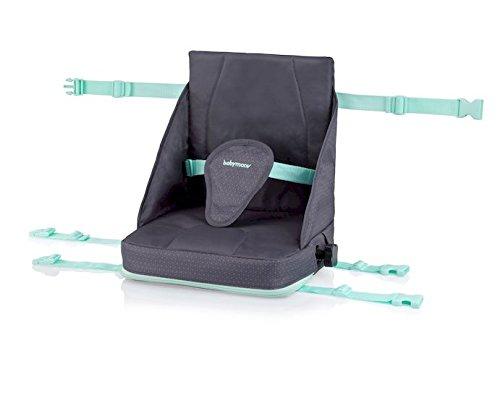 Babymoov Sitzerhöhung Up & Go Boostersitz/ Hochstuhl für unterwegs flexibel höhenverstellbar kompakt, grau