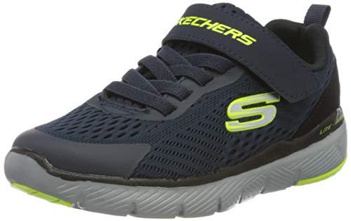 Skechers Jungen Flex Advantage 3.0 Sneaker, Blau Marineblau Mesh Lime Schwarz Besatz Nvbk, 37 EU