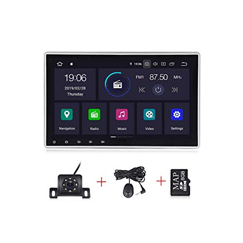 Android 10.0 OS 10.1 Inch Single Din Adjustable Screen Car Stereo  IPS DSP 2G RAM Car Radio for Car Touch Screen PX30 Car Multimedia Navigation Support Bluetooth WiFi