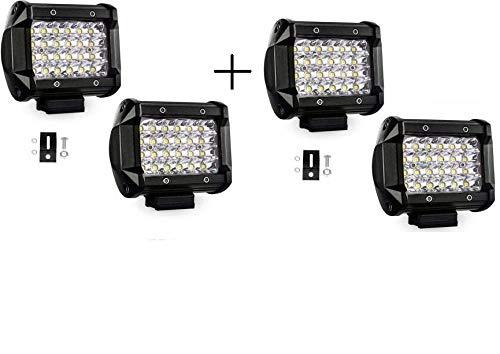 Semaphore 24 LED 24 Watt 5 Wide Spot Beam Auxiliary Light Off Road Driving Fog/Work Light Lamp Bar LED 2 Pcs Compatible With Mahindra Bolero Power Plus