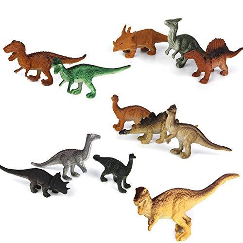 12 Stück Kunststoff Modell Dinosaurier-Figuren Kinder Spielzeug-Set Dinosaurier Modell Cute Animals Geschenke Boys Toys Hobbies Kinder Mini kleines Plastik Dinosaurus Figuren Spielzeug 5-8 cm