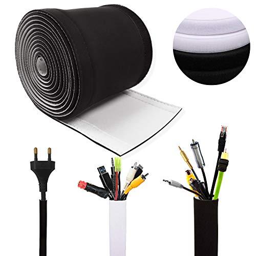 Kabelschlauch,300 * 13,5 cm Flexibles Kabelmanagement, Einstellbare Kabelkanal für TV,Computer,Büro,Heimkino