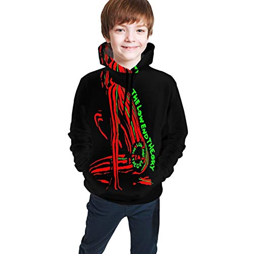 Low End Theory Tapestry Teen Hooded Sweate Black S(7-8) Comfortable Classic Boy Girl
