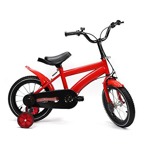 Bicicleta infantil unisex de 14 pulgadas con freno de contrapedal, ruedas de...