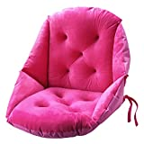 """Bobor Warm Comfort Chair Cushion, for Supporting the Lumbar Backrest Large Size Seat Cushion, Multifunctional Cushion for Student Dormitory Office for Adult (Rose Red, 19""""L x 22""""W x 19""""H)"""