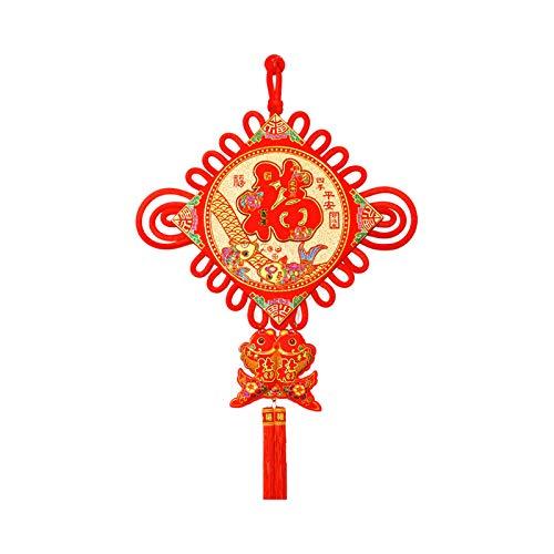 jinyi2016SHOP Borla China Colgante Nudo Chino Fu Carácter Sala Puerta Nudo Chino decoración de la...