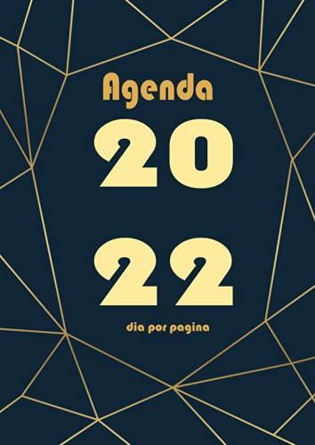 Agenda 2022 dia por pagina: A4 Grande Planificador anual 2022 12 meses...