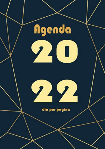 Agenda 2022 dia por pagina: A4 Grande Planificador anual 2022 12 meses ,1 día por 1 página -azul- español 365 dias| Calendario Organizador