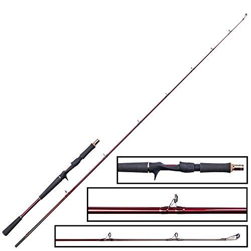 Westin W6 Jerkbait H 1,95 m 20-80 g – Caña de pescar para pesca de lucio, caña de pescar para pesca de lucio, caña de pescar para pesca de lucios