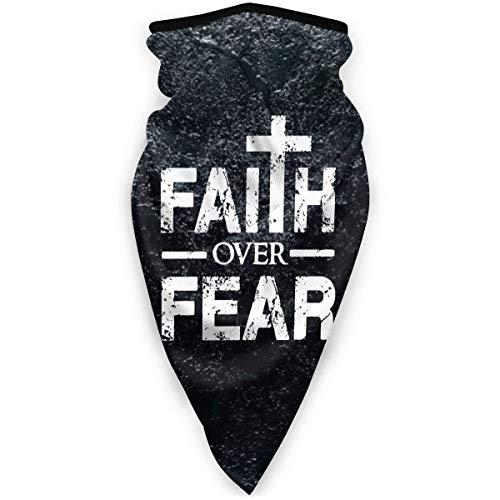Faith Over Fear Christian Reusable Half Face Balaclava for Men & Women-Black-OneSize