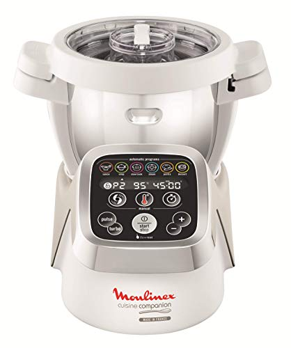 Moulinex HF802AA1 Robot cocina con 6 programas automáticos, 4,5 L de capacidad 6 personas, 12 velocidades y temperatura de 30º a 130º, función de mantenimiento de la calor 45 min