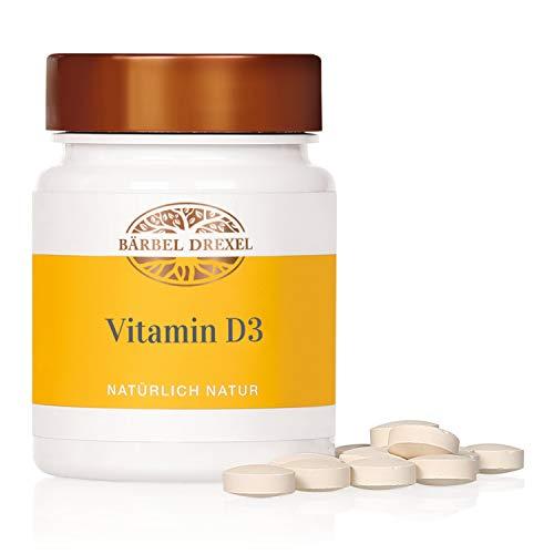 BÄRBEL DREXEL® Vitamin D3 Vegan Presslinge + Hochdosiert, Sonnenvitamine, Vitamin-D3-Mangel (100 Stk) 100% Vegane Herstellung Deutschland Vitamin D, Immunsystem
