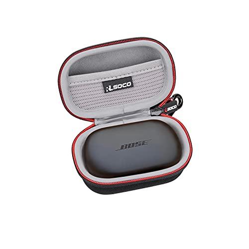 RLSOCO Hard Case for Bose QuietComfort Noise Cancelling Earbuds /Bose Sport Earbuds True Wireless Earphones(Black)