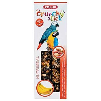 Zolux Crunchy Stick Friandise pour Perroquet Cacahuète/Banane 115 g