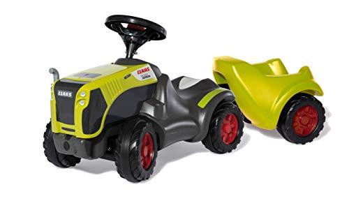 Rolly Toys 13 588 2 Babyrutscher Claas Xerion mit rollyMinitrac Anhänger (Rutschfahrzeug mit Trailer, für Kinder von 1,5-4 Jahre, Ablagefach unter Motorhaube, Flüsterlaufreifen) 135882