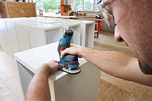 Bosch Professional Akku Kantenfräse GKF 12V-8 (2x 3,0 Ah Akku, 12 Volt, Fräskopf-Schaft: 8 mm, in L-BOXX)