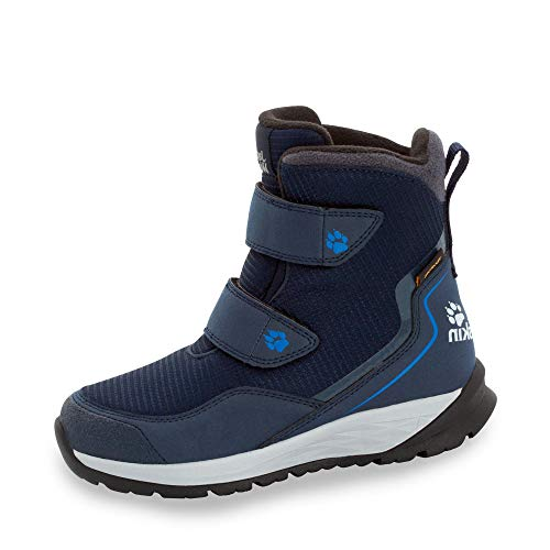 Jack Wolfskin Unisex-Kinder Polar Bear Texapore High Vc K Schneestiefel , Blau (Dark Blue/ Light Grey 1168) , 33 EU