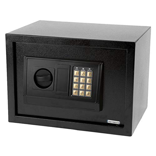 Small Size Electronic Digital Steel Safe Strongbox Black Security Safe Boxes Lock Home Office Hotel Business Jewelry Gun Cash Use Storage Money