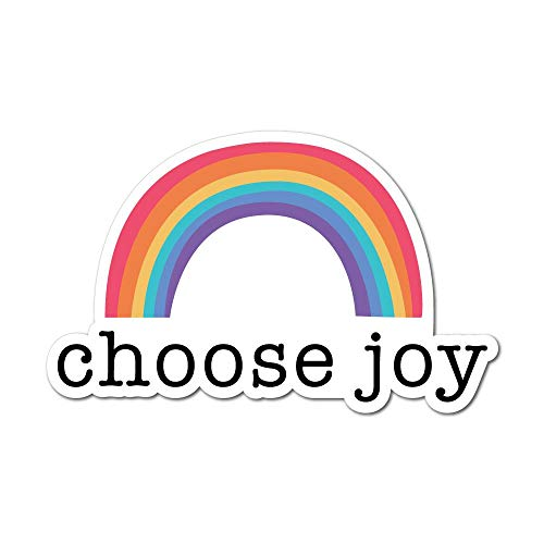 Rainbow Joy Sticker Decal Funny Hype Popular Car Silly Laptop Cool
