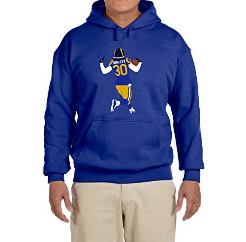 Tobin Clothing Blue Los Angeles Gurley Running Hooded Sweatshirt Adult Large