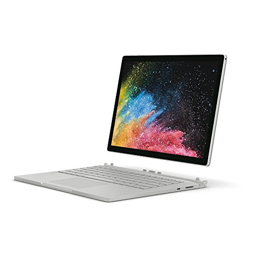Microsoft Surface Book 2 13.5-Inch PixelSense Display Notebook (Silver) - (Intel i7-8650U, 16 GB RAM, 512 GB SSD, NVIDIA GeForce GTX 1050 Graphics, Windows 10 Pro)