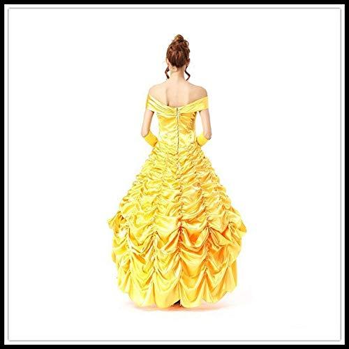 PIN Costumi di Halloween Gonna da donna La bella e la bestia Principessa Cos Abito per adulti Vestito da gioco di ruolo,M