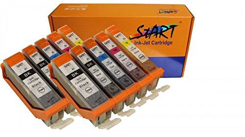 Start - 10 XL Ersatz Chip Patronen kompatibel zu Canon PGI-570 PGBK XL Schwarz, CLI-571BK XL Foto-Schwarz, CLI-571C XL Cyan, CLI-571M XL Magenta, CLI-571Y XL Gelb
