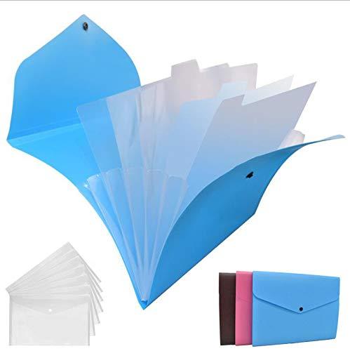 Borse Di File,DBAILY Plastica Trasparente Cartelle Di File Documento Cartelle Resistente All'acqua Per Ufficio Scolastico Ricevute Archiviazione