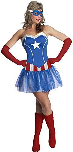 Rubies - Disfraz de Capitán América de Marvel para Mujer (Talla pequeña)